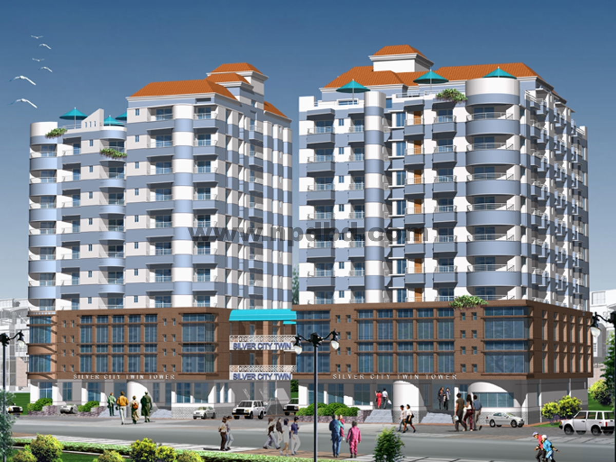 Project silver city twin tower silver city housing for Apartment design development ltd bangladesh