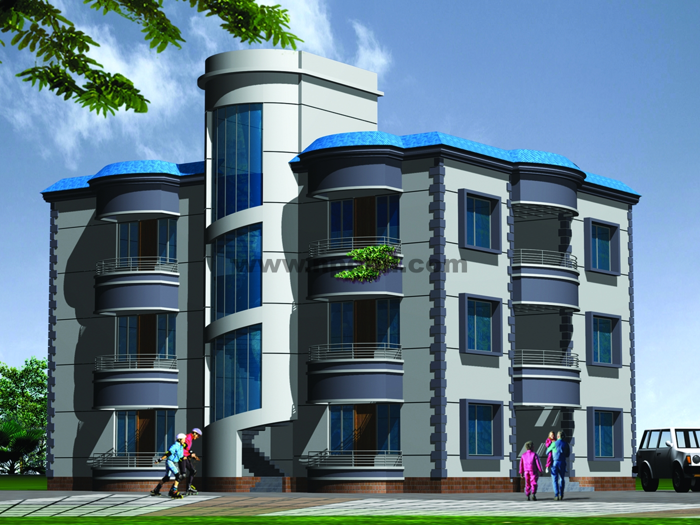 3D Building View http://www.npdbd.com/projects/view/92/Syed_Nibash/Mohammed_Pur_South_Surma_Sylhet