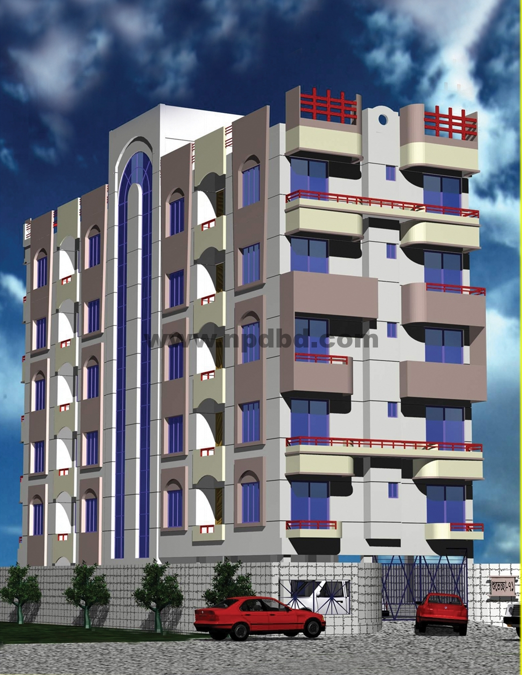 3D Building View http://www.npdbd.com/projects/view/66/Shubaccha_71/Amborkhana